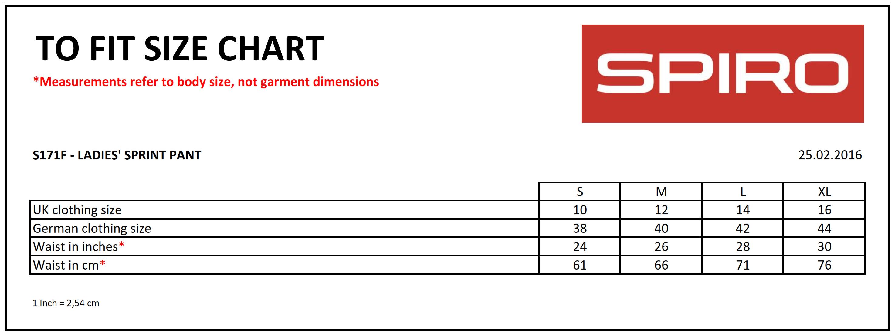 Result: Ladies` Spiro Sprint Pant R171F