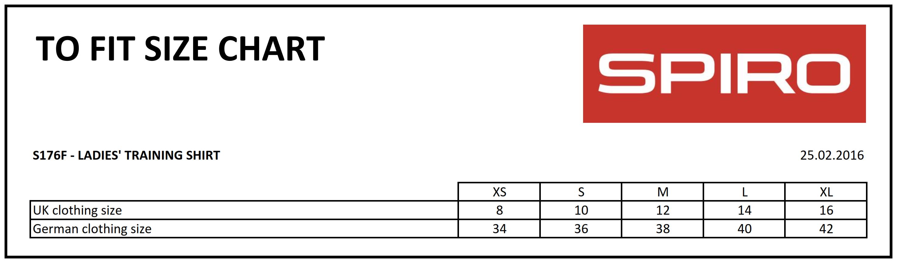 Result: Ladies` Spiro Training Shirt R176F