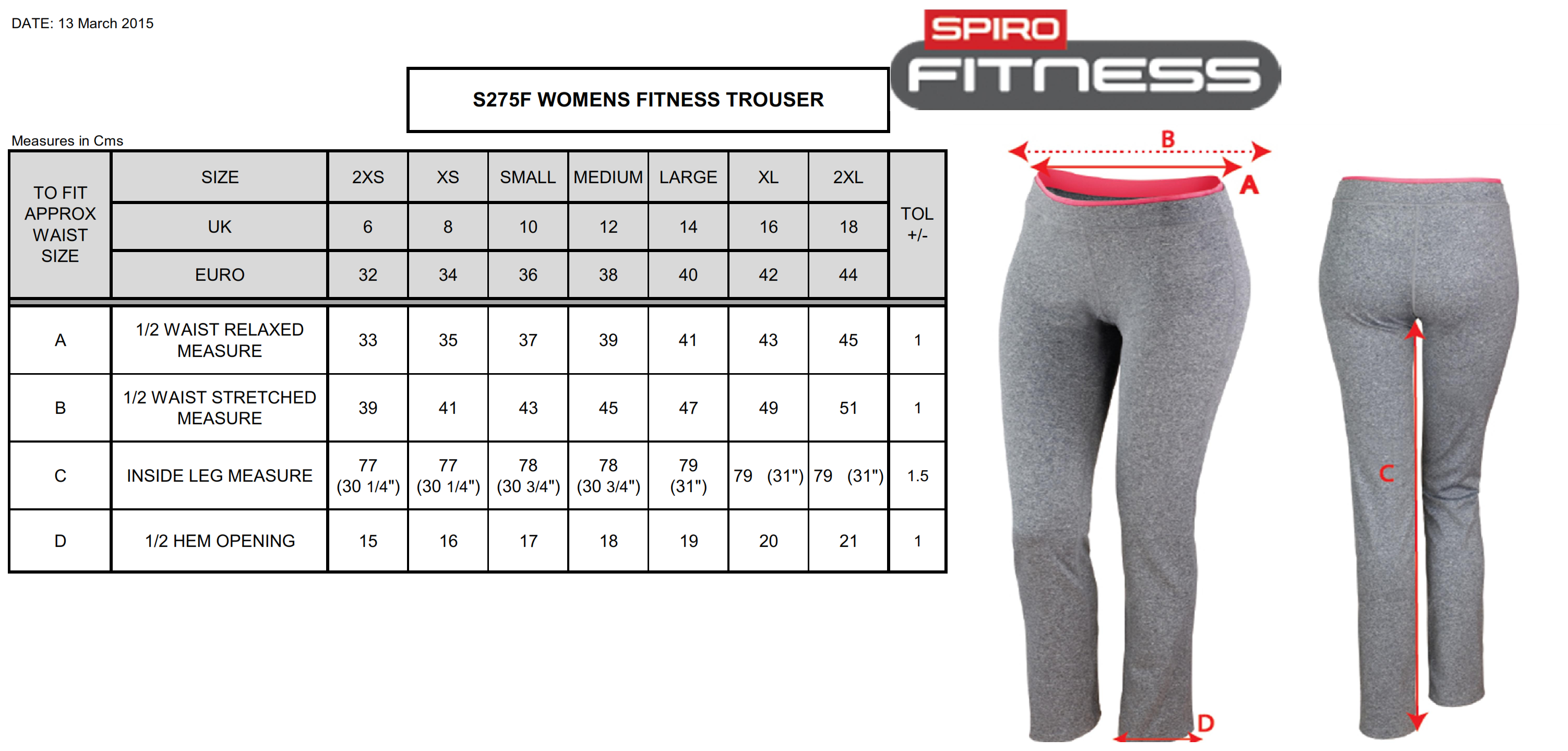 Result: Women`s Fitness Trousers S275F
