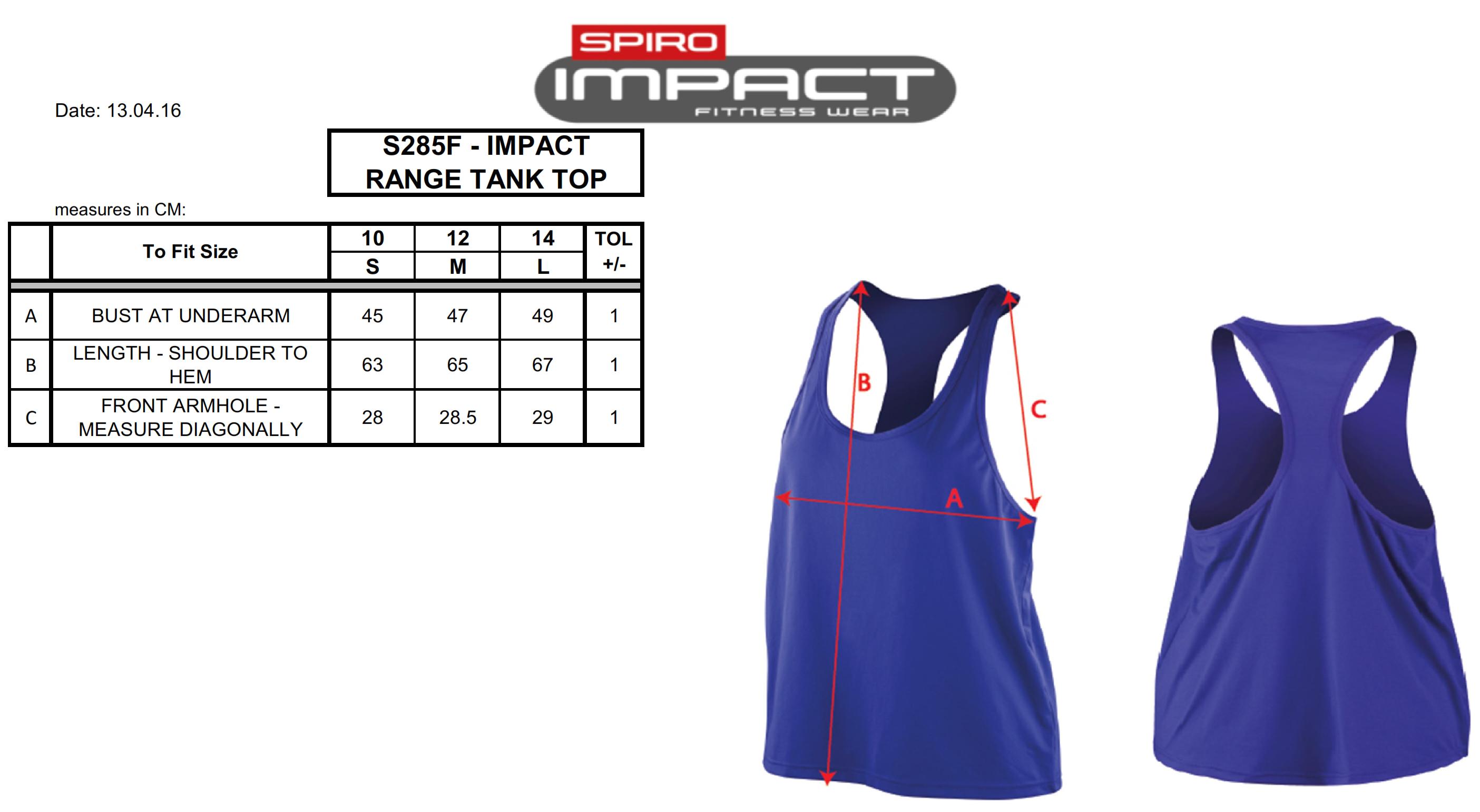 Result: Women`s Impact Softex Tank Top S285F