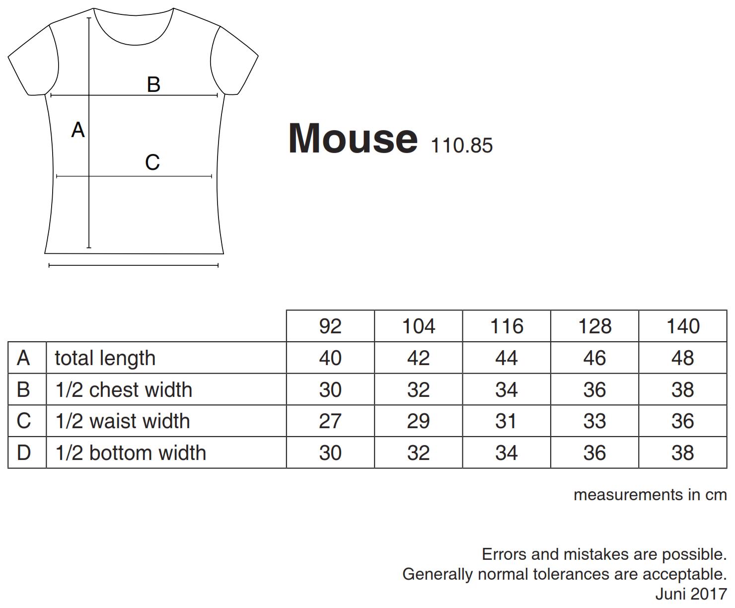 nakedshirt: Mouse Girl`s Fashion T-Shirt TK-SSL-R-CO001