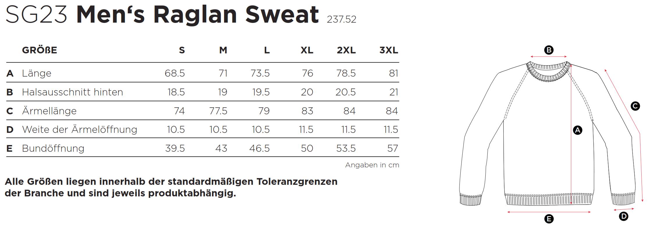 SG: Raglan Sweat SG23