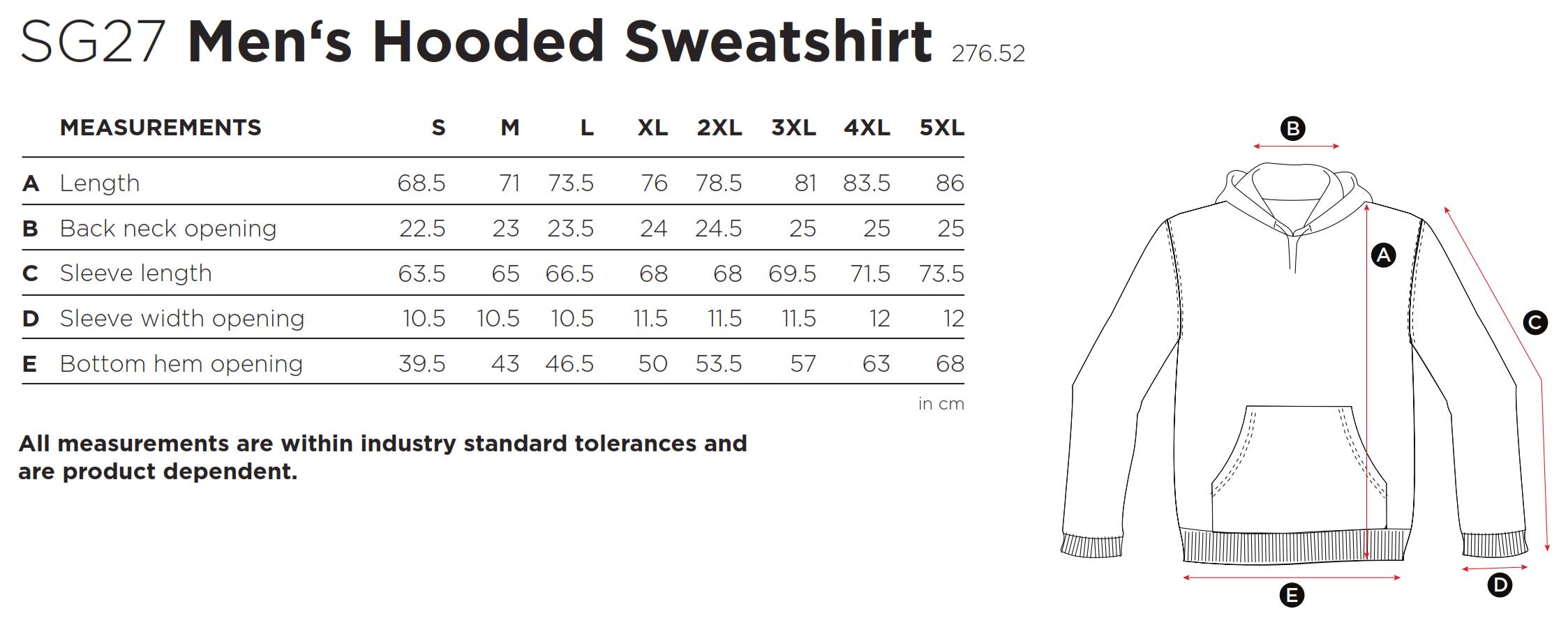 SG: Hooded Sweatshirt SG27