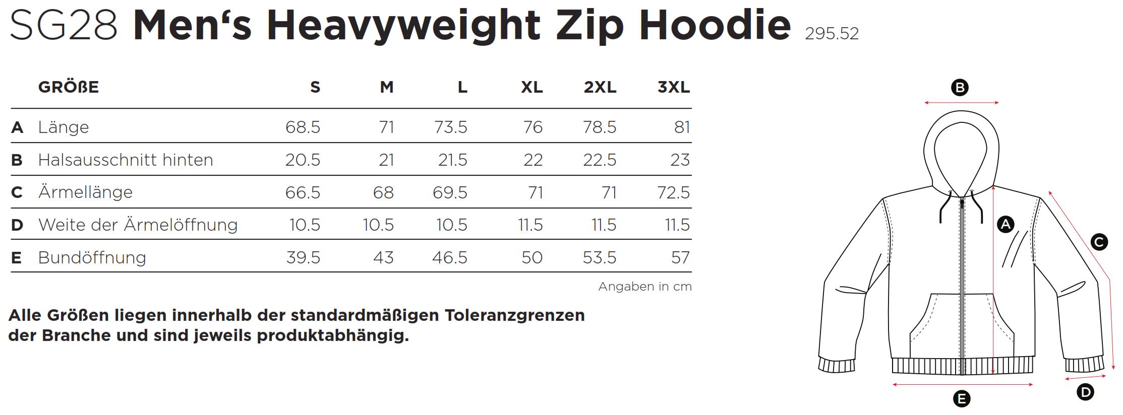 SG: Heavyweight Full Zip Hoodie SG28
