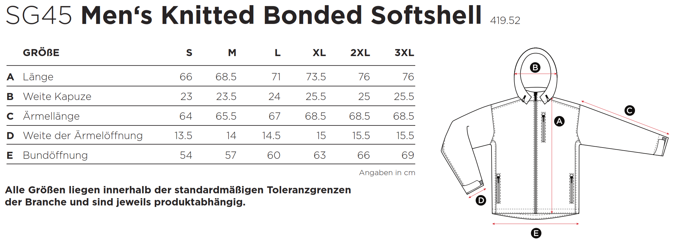 SG: Knitted Bonded Softshell SG45