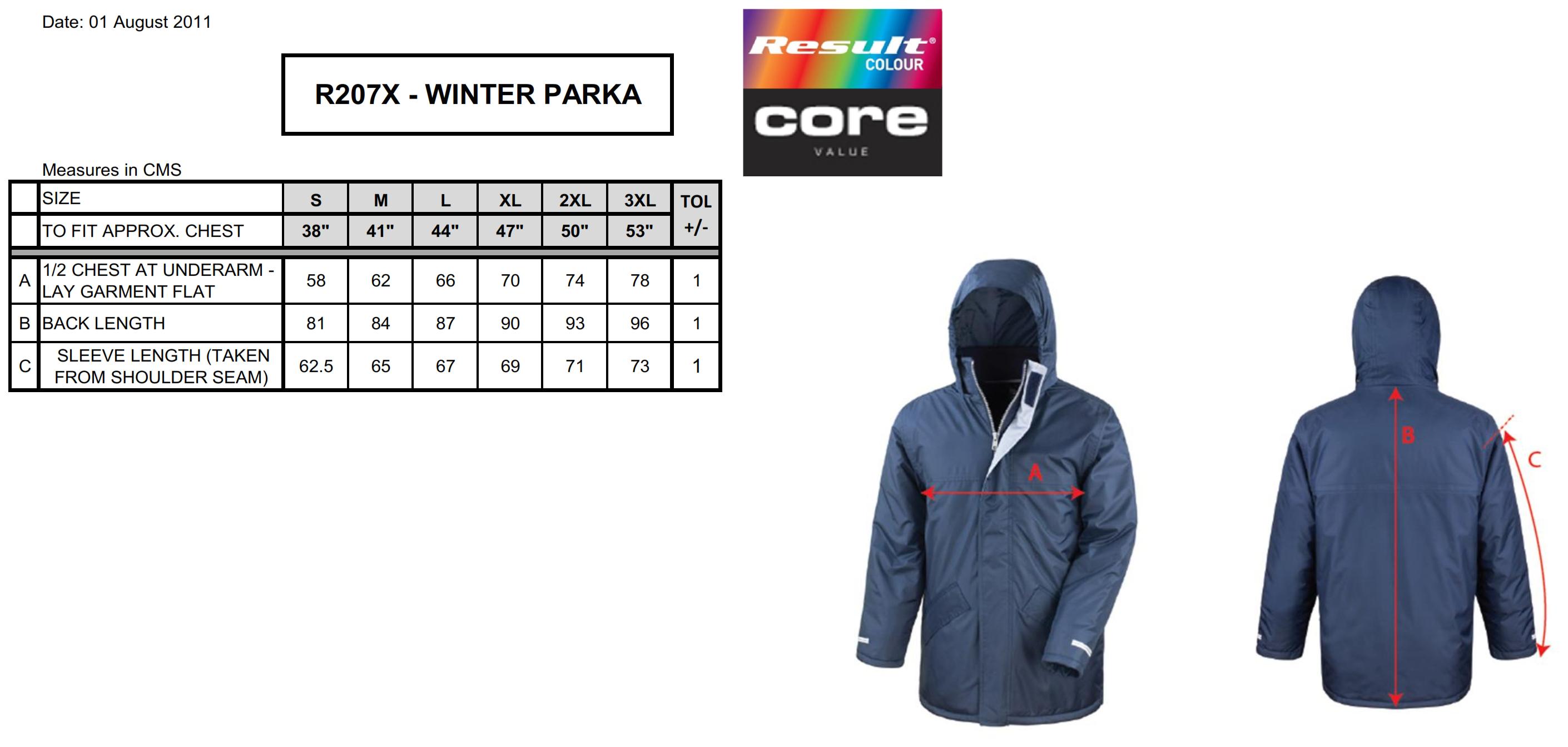 Result: Core Winter Parka R207X