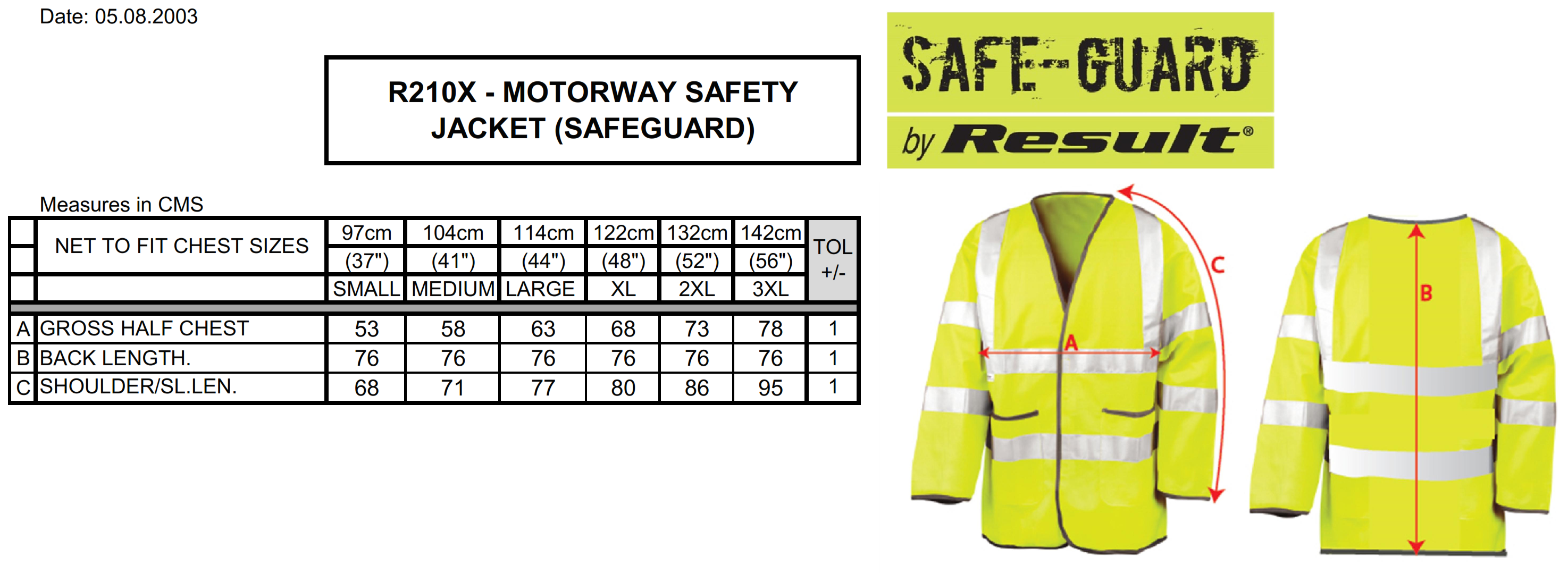 Result: Light-Weight Safety Jacket R210