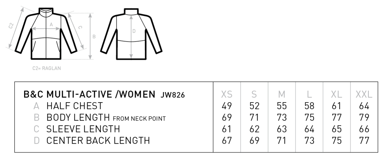 B&C: Multi-Active Women Jacket JW826