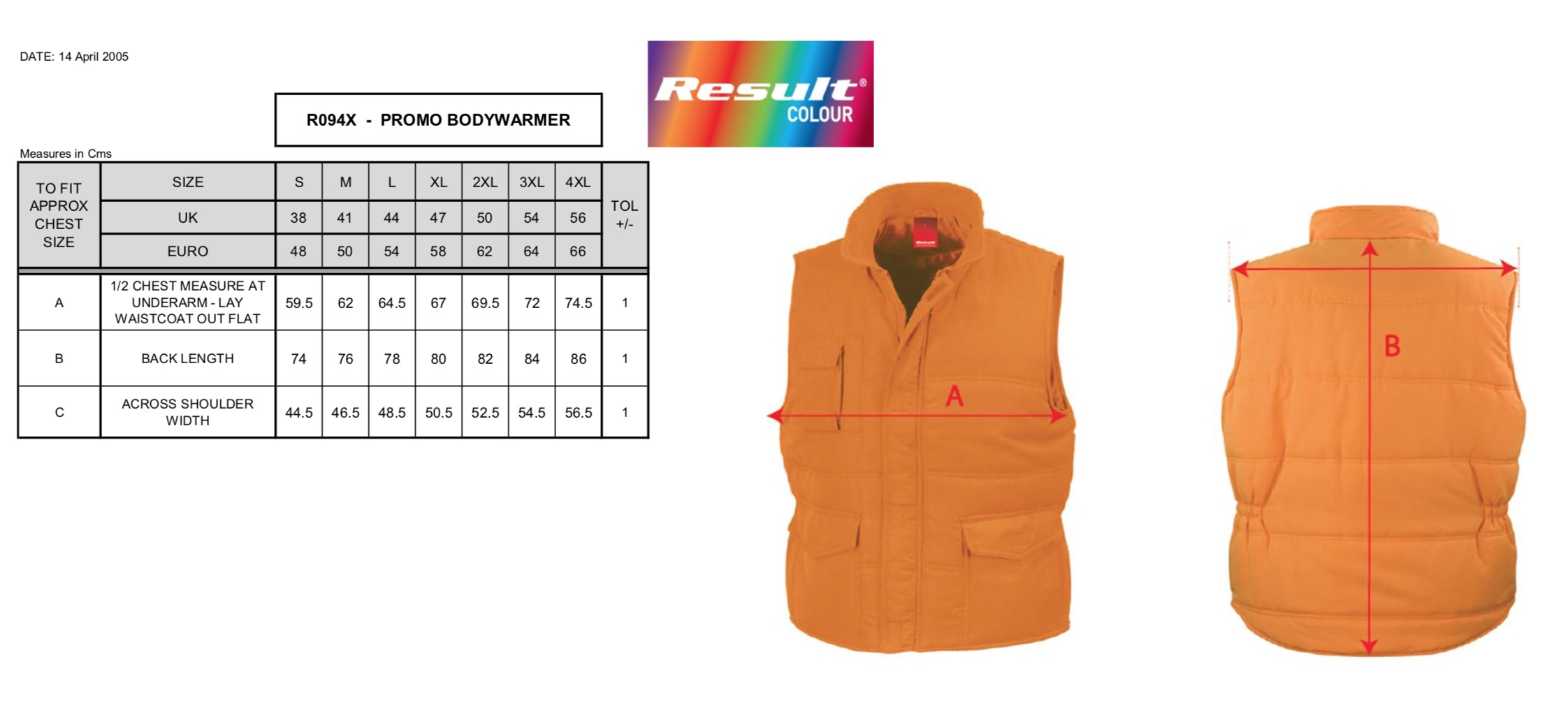 Result: Promo Bodywarmer R094X