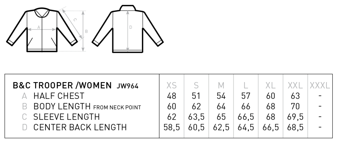 B&C: Trooper Women Jacket JW964