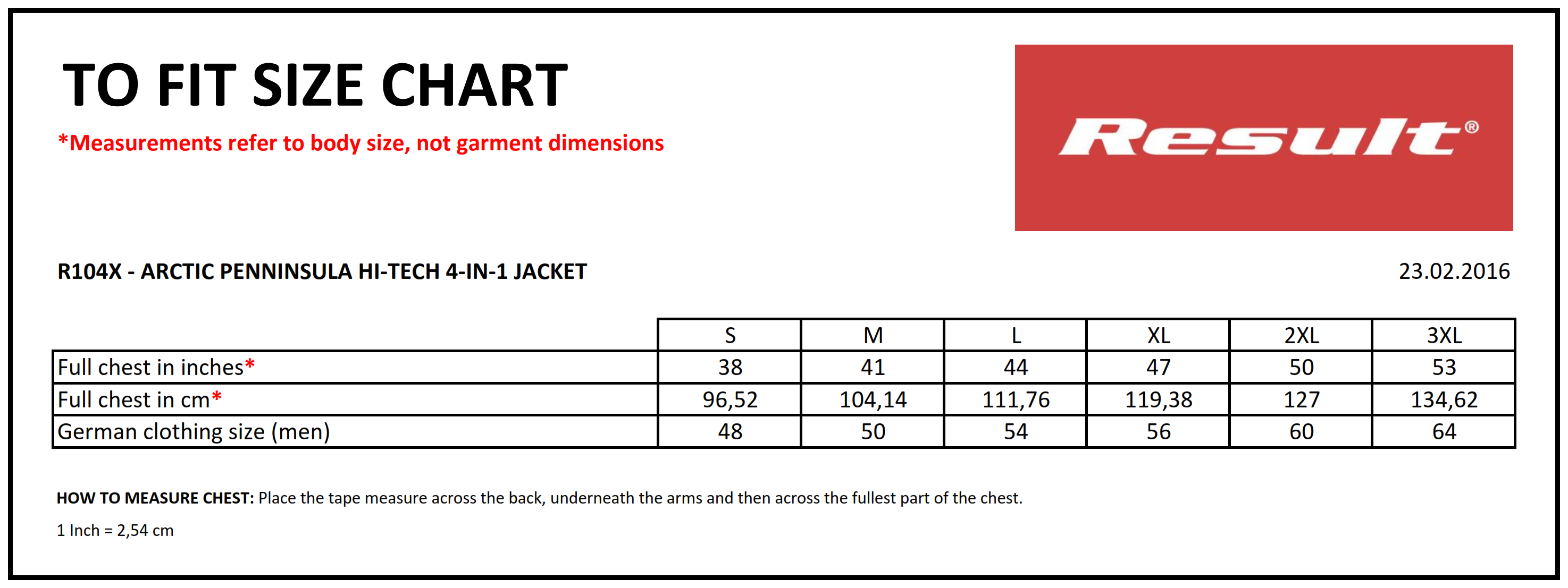 Result: Winter Blouson R105X