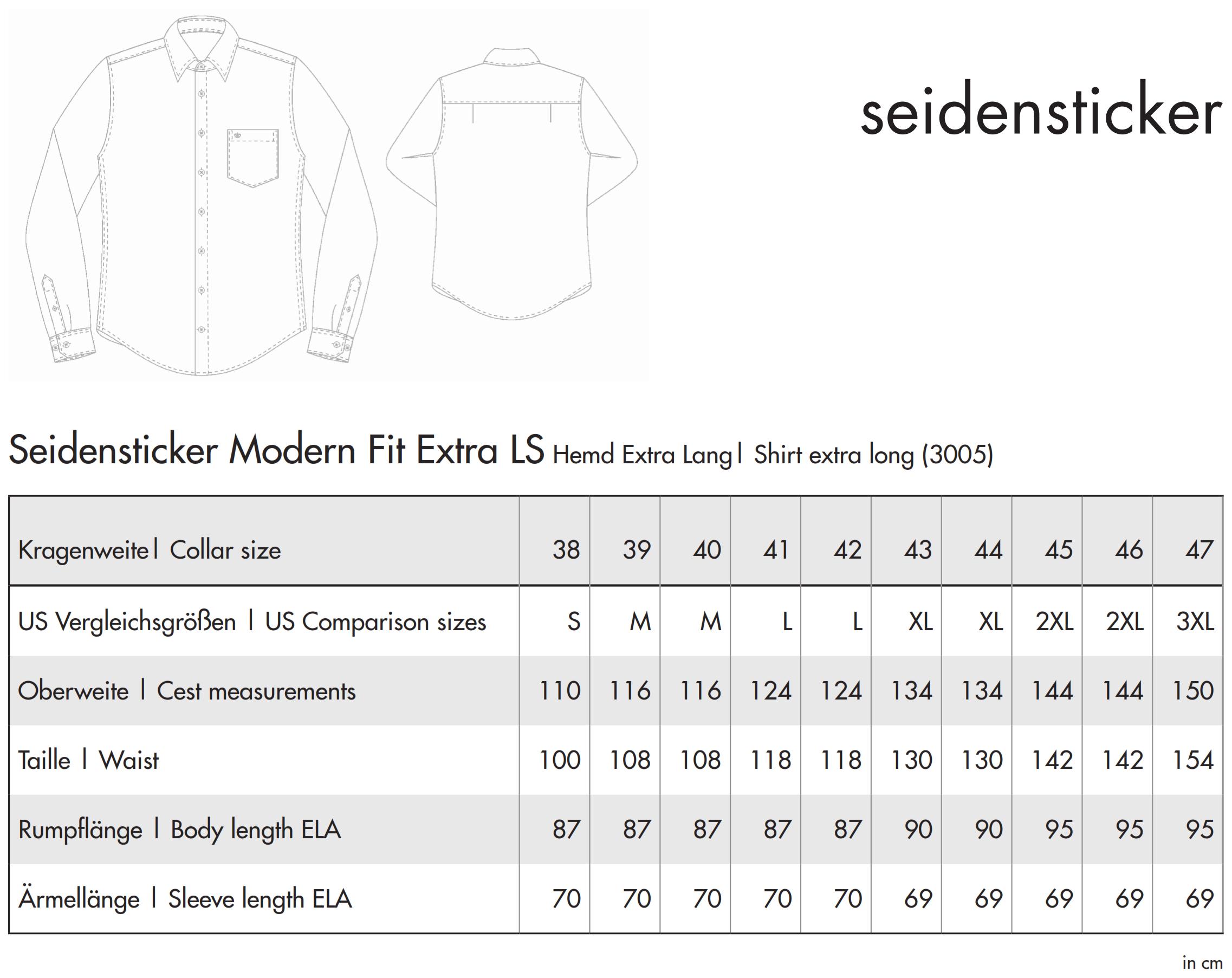 Seidensticker: Splendesto Hemd Extra Lang 3005