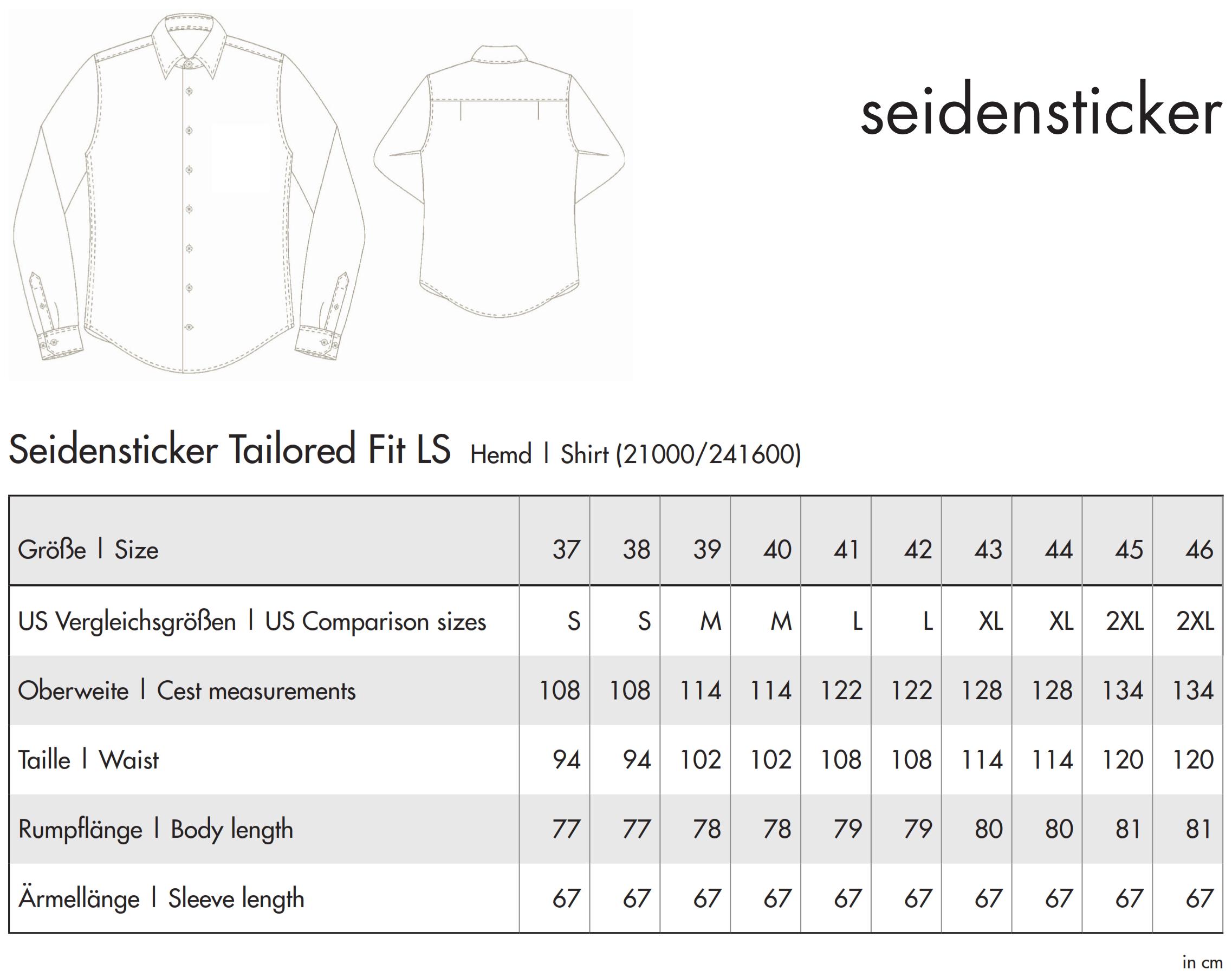 Seidensticker: Shaped Fit 1/1 Business Kent 021000/241600