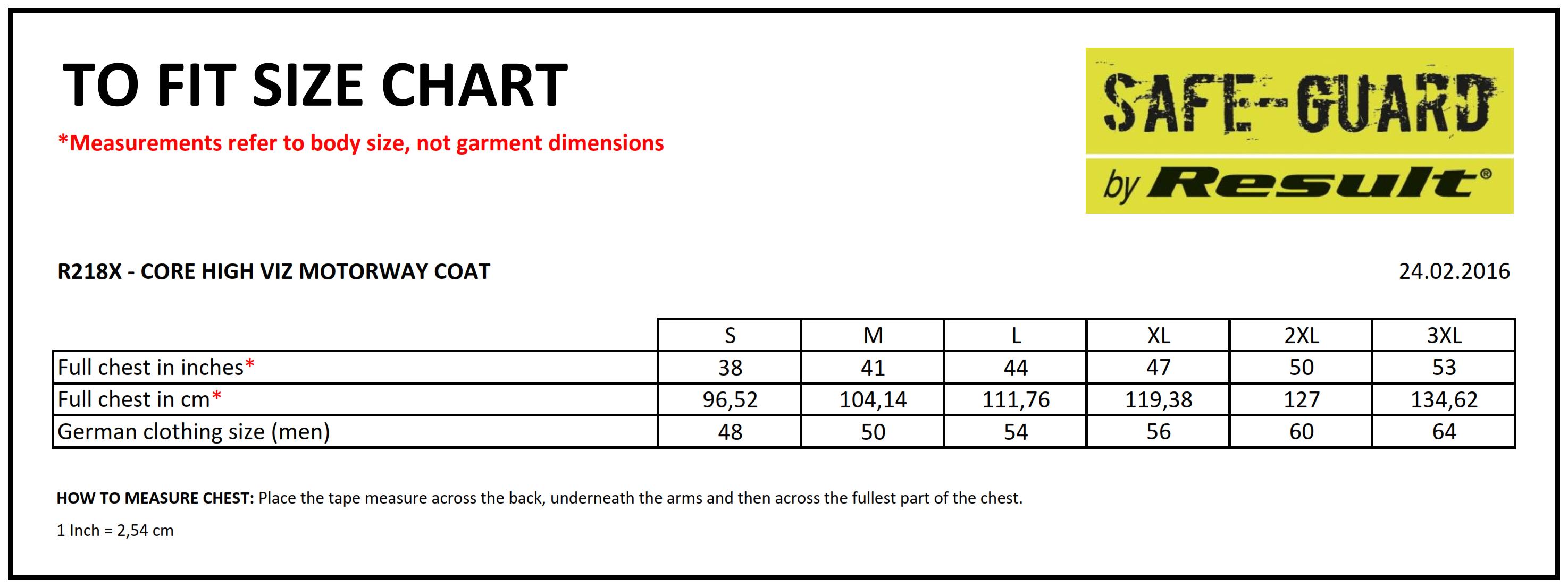 Result: Core High Viz Motorway Coat R218X