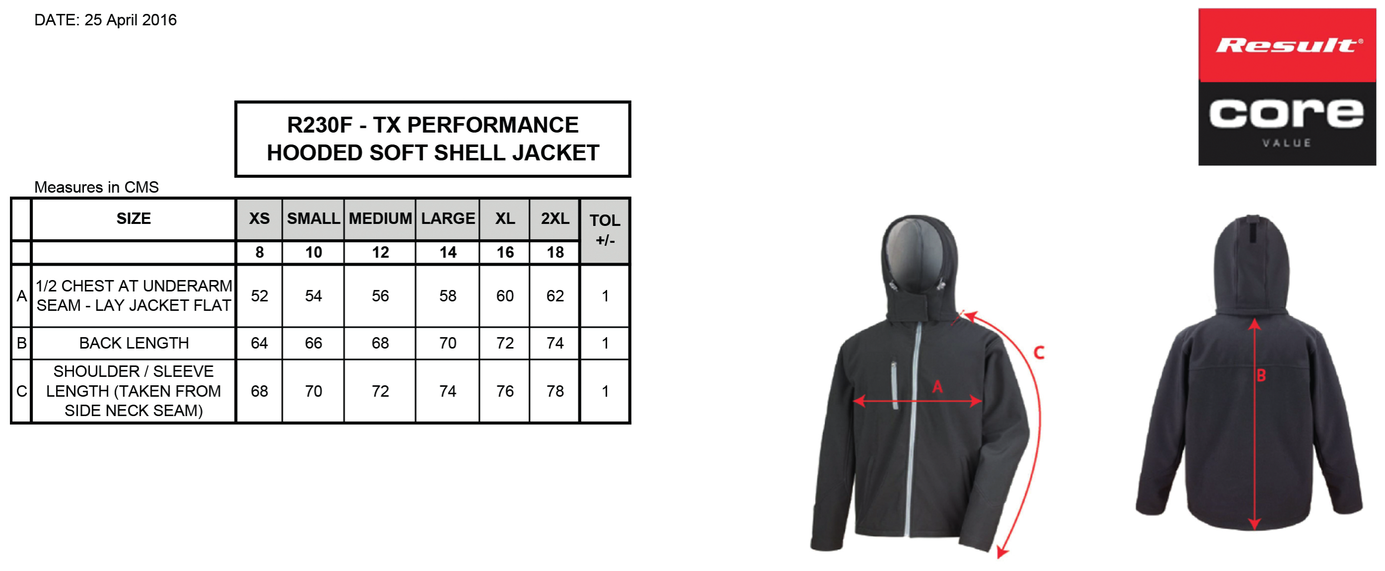 Result: Ladies TX Performance Hooded Softshell Jacket R230F