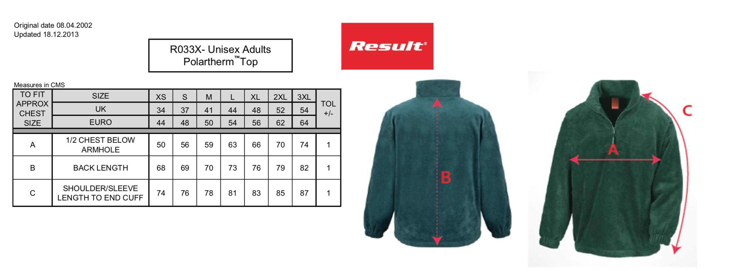Result: 1/4 Zip Fleece Top R033X