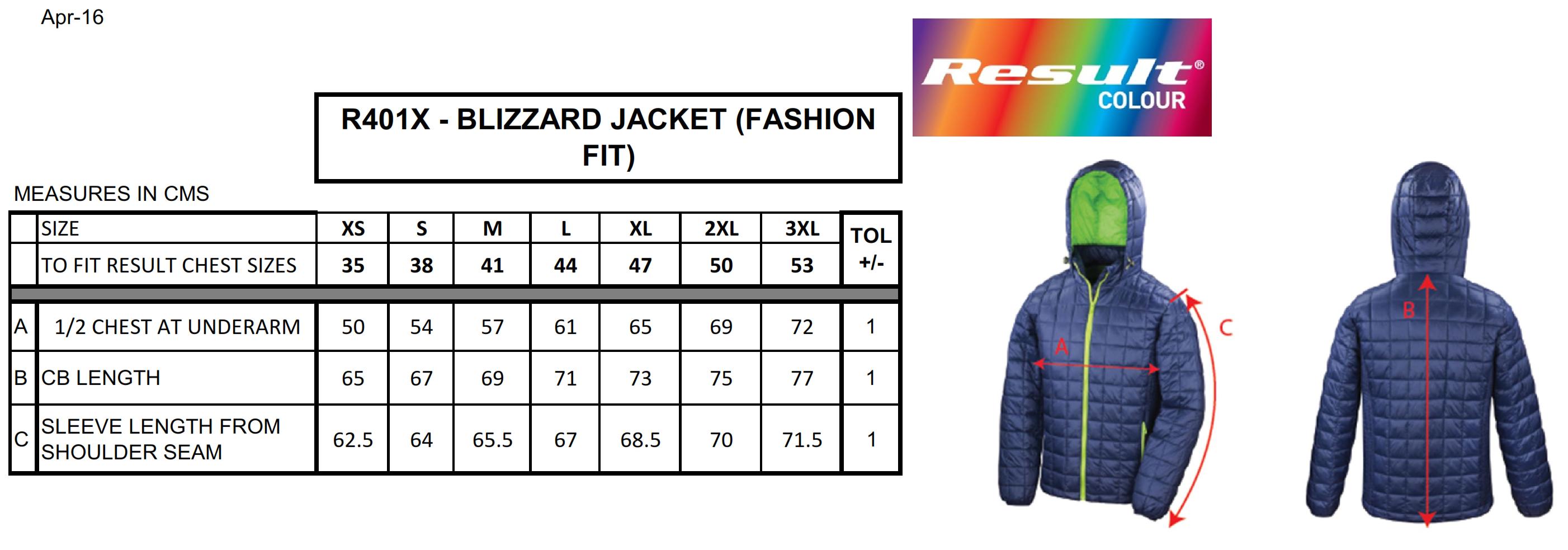 Result: Blizzard Jacket R401X
