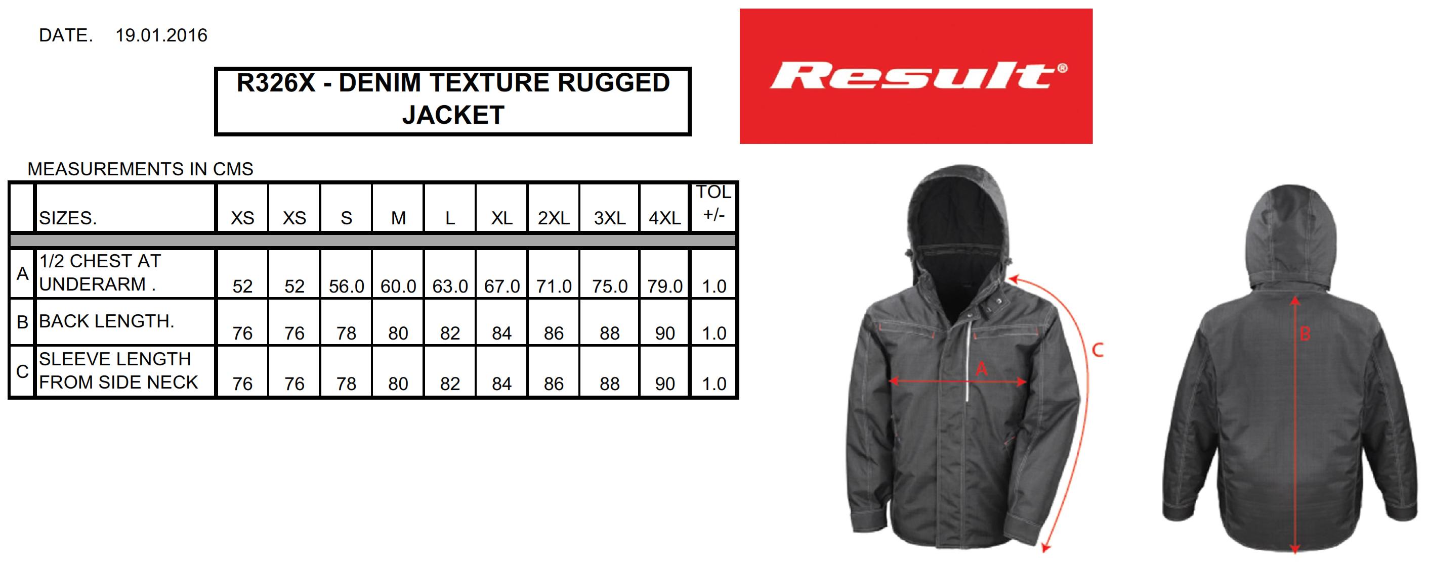 Result: Rugged Denim Texture Jacket R326X