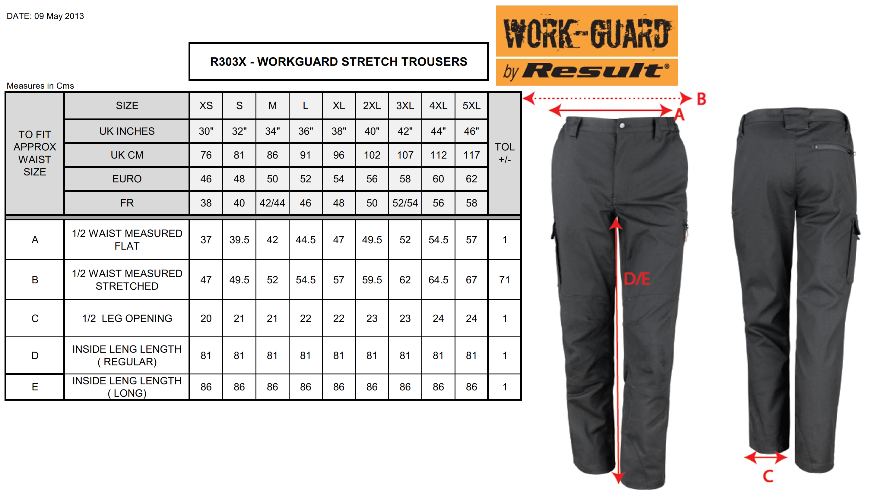 Result: Work-Guard Stretch Trousers Long R303X (L)