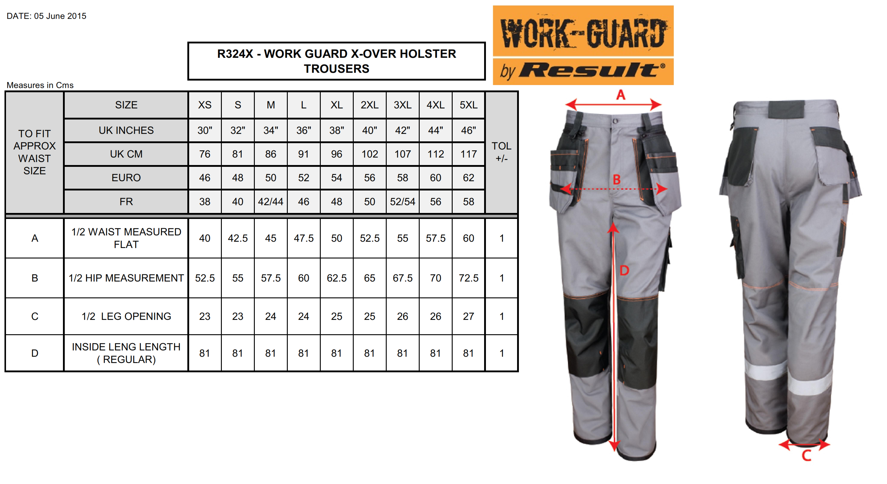 Result: X-OVER Heavy Trouser R324X