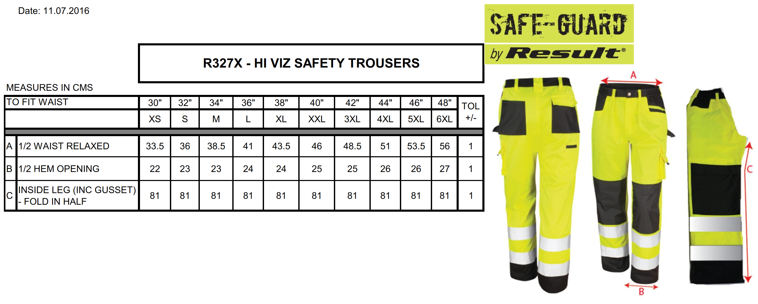 Result: Safety Cargo Trouser R327X