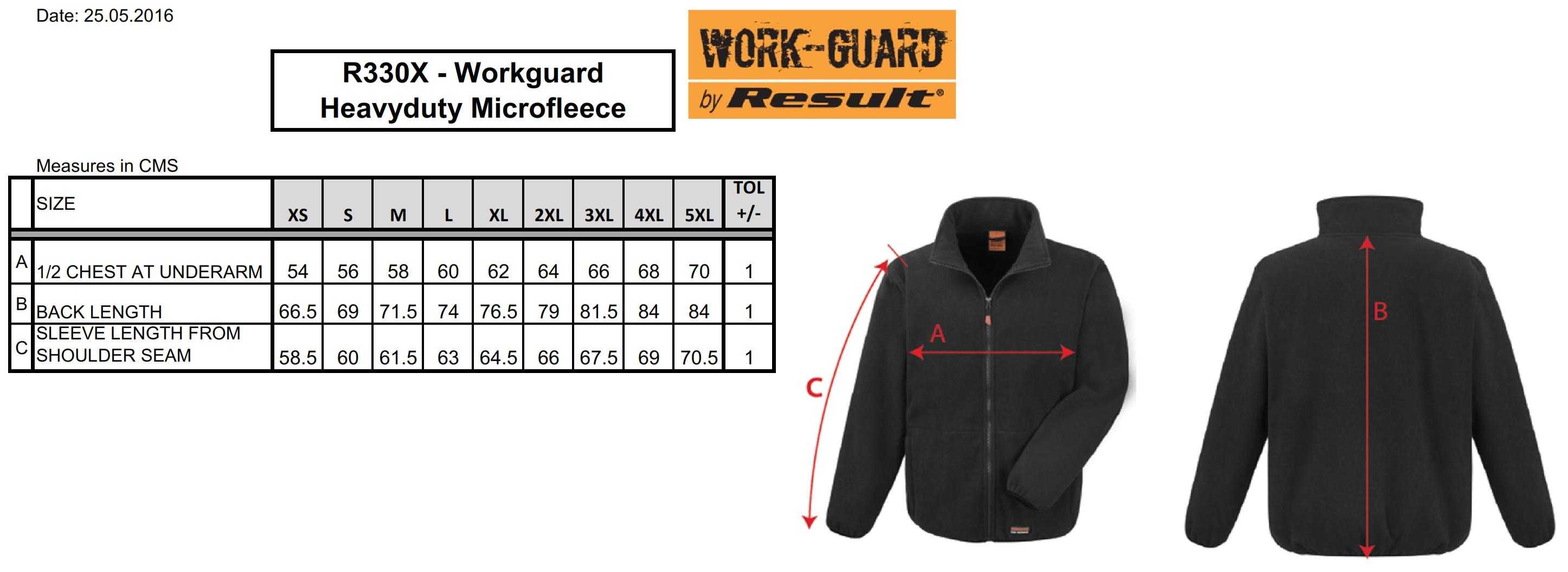 Result: Heavy Duty Microfleece R330X